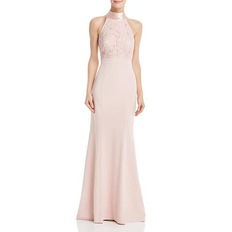 Eliza J Womens Formal Dress Lace Halter - Blush