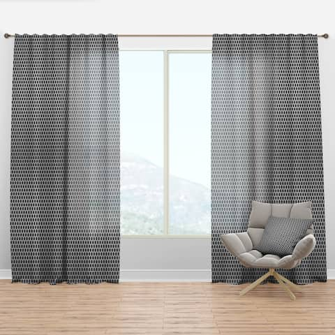 Carson Carrington Tangvattnet 'Metal Grill 3D Circles' Abstract Curtain Panel