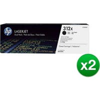 HP 312X Black Original LaserJet Toner Dual Cartridge (CF380XD)(2-Pack)