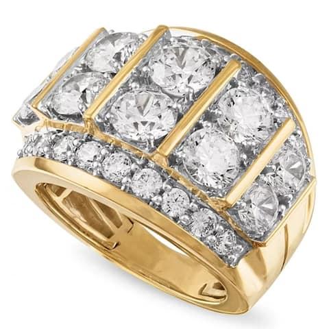 7Ct Diamond Mens Anniversary Ring in 10k Yellow Gold