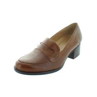 Naturalizer Womens Dinah Loafers Leather Block Heel - 9 wide (c,d,w)