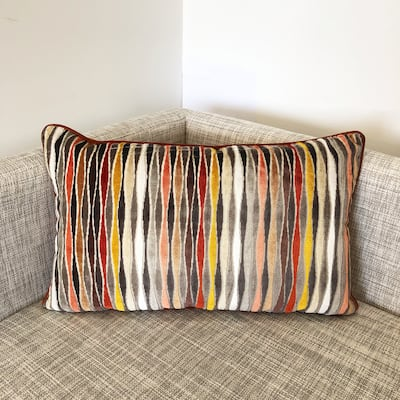 Rodeo Home Frankie Multicolor Wave Rectangular Lumbar Pillow