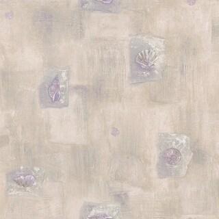 Brewster 347-74541 Kesey Purple Seashell Mosaic Wallpaper