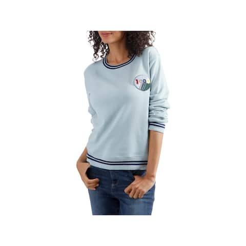 Lucky Brand Womens 1990 Sweatshirt Graphic Crew Neck