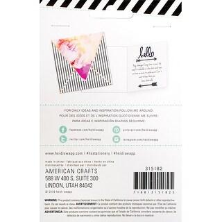 """Heidi Swapp Buzz Words Epoxy Stickers 4""""X6""""-Hello Navy"""