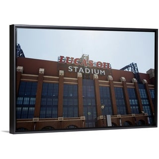 """""""Facade of the Lucas Oil Stadium, Indianapolis, Marion County, Indiana"""" Black Float Frame Canvas Art"""