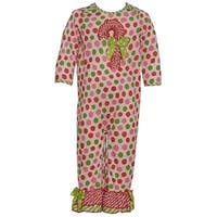 Laura Dare Baby Girls Red Green Magical Dots Candy Cane Pajama Romper 12-24M