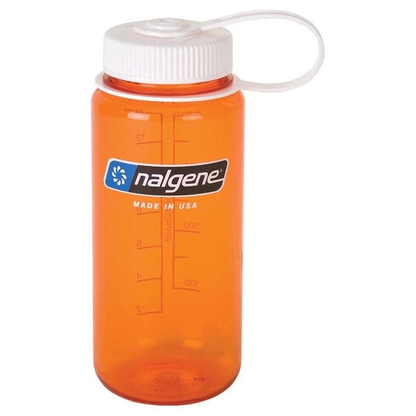 Nalgene WM 1 Pt Orange W/White Lid 2178-1316