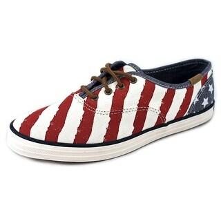 Keds Champion Patriotic Women Round Toe Canvas Multi Color Sneakers