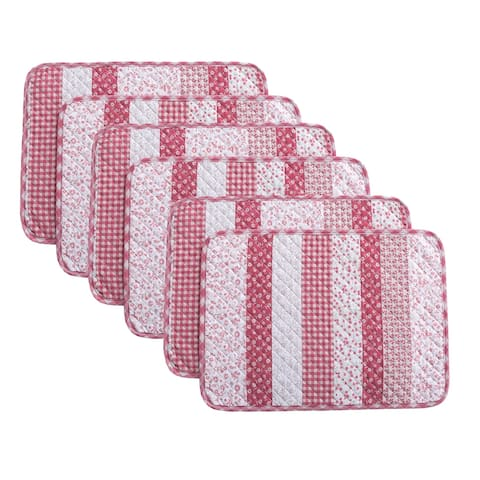 Country Living Stripe 6-Piece Placemat Set - 13x19