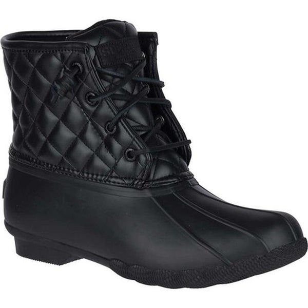 794d06004 Sperry Top-Sider Women's Saltwater Duck Boot Black Quilted Synthetic.  Click to Zoom