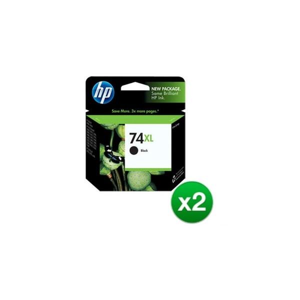 HP 74XL High Yield Black Original Ink Cartridge (CB336WN)(2-Pack)