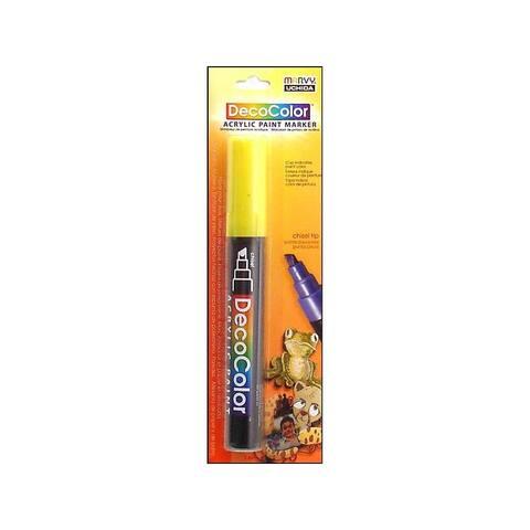 315c-5 uchida decocolor acry paint pen card yellow
