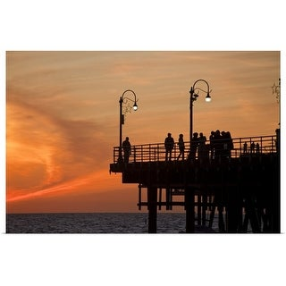 """Santa Monica Pier Sunset"" Poster Print"