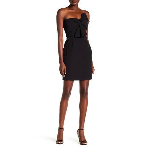 Alexia Admor Bow Tie Strapless Dress, Black,10
