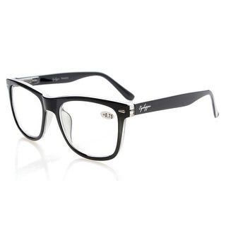 Eyekepper Readers Large Lenses Spring-Hinges Reading Glasses Black +0.75