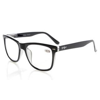 Eyekepper Readers Large Lenses Spring-Hinges Reading Glasses Black +2.25