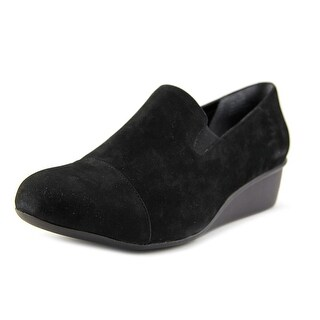 Ros Hommerson Ellis Women W Open Toe Leather Black Wedge Heel