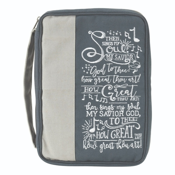 """9"""" Gray """"Then Sings My Soul My Savior God to thee"""" Religious Thinline Bible over - N/A"""