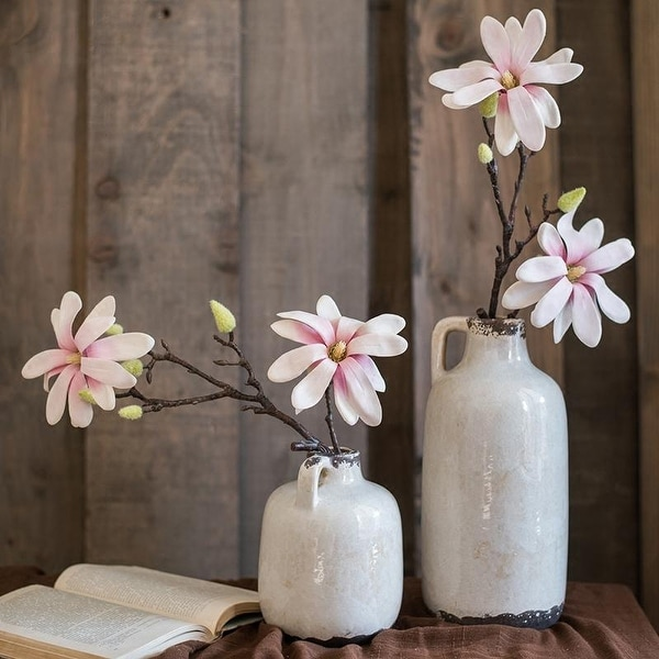 Shop Rusticreach Real Touch Magnolia Flower Stem 21 Tall Free