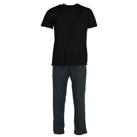 Ten West Apparel Men's Knit Tee an Lounge Pant Pajama Set