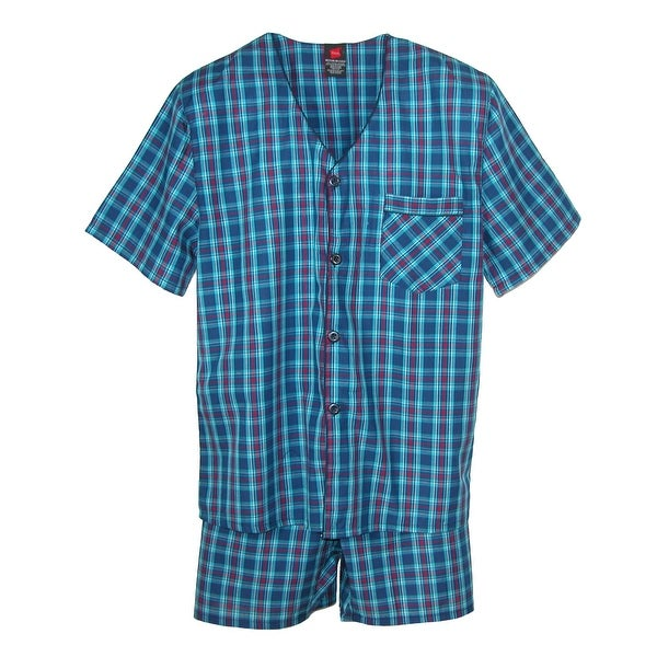 Hanes Men's Short Sleeve Short Leg Pajama Set