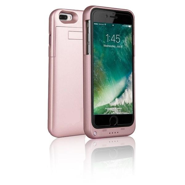 Indigi® Elegant Rose Gold External Juice Pack Battery Case - High Capacity 4000mAh - for iPhone 7 Plus