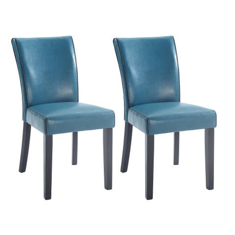 Somette Mischa Bonded Leather Parson Chair, Set of 2