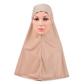 Muslim Scarf Kerchief Hat Zircon Flower khaki