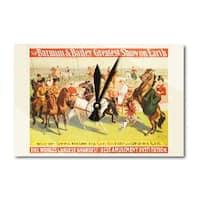 Barnum & Bailey Equestrian Academy 1904 Vintage Ad (Acrylic Wall Clock) - acrylic wall clock