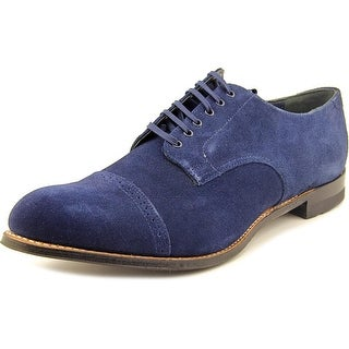 Stacy Adams Madison Men Round Toe Suede Blue Oxford
