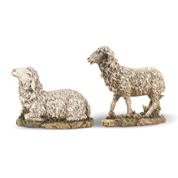 Set of 2 Joseph's Studio Seated and Standing Sheep Christmas Nativity Figures 14.5""