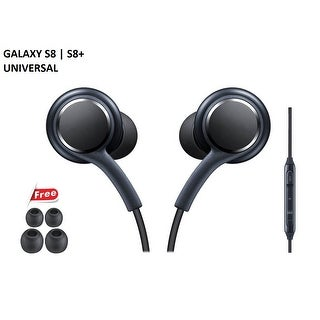 Cellvare Stereo Headset Tuned In-Line Mic-Volume, HD Stereo Sound-Titan for Samsung Galaxy S8, S8 Plus, S9, S9 Plus