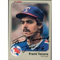 Signed Tanana Frank Texas Rangers 1983 Fleer Baseball Card autographed