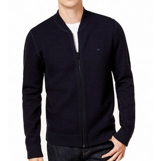 Tommy Hilfiger Navy Blue Mens Size 2XL Reversible Wool Sweater