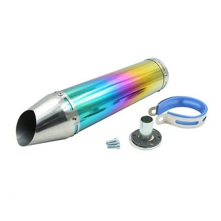 30mm Inlet Dia Universal Stainless Steel Motorcycle Scooter Exhaust Pipe Muffler
