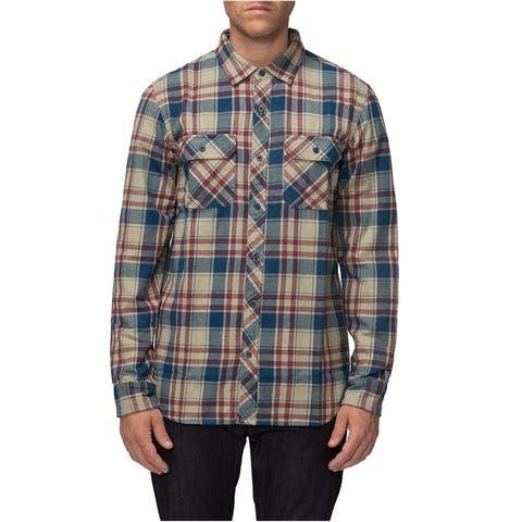 Tavik Mens Vincent Plaid Button Up Shirt