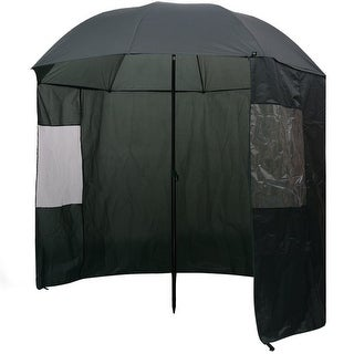 "vidaXL Fishing Umbrella Green 94""x83"""