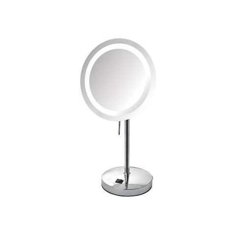 Jerdon jer-jrt950cl 8x led lighted table mirror chrome