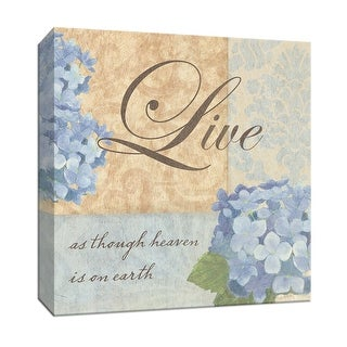 "PTM Images 9-152291  PTM Canvas Collection 12"" x 12"" - ""Live as though"" Giclee Sayings & Quotes Textual Art Print on Canvas"