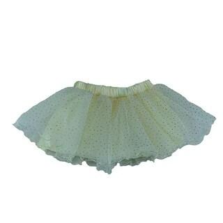 Reflectionz Little Girls Cream Lined Glitter Tulle Birthday Skirt 2-6