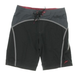 Speedo Mens Colorblock Lace-Up Board Shorts