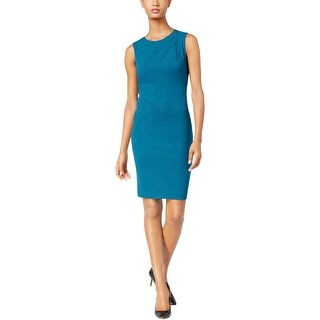 Calvin Klein Womens Wear to Work Dress Sleeveless Sheath