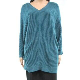 Ellen Tracy NEW Blue Teal Women's Size Large L Dolman Boat Neck Sweater
