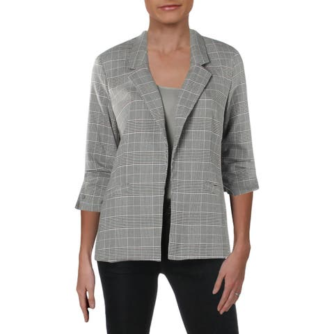 Kut From The Kloth Womens Rafaella Blazer Plaid Work Wear - XS