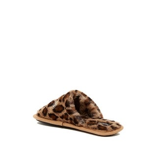 Bebe Womens Charee Fur Closed Toe Slip On Slippers