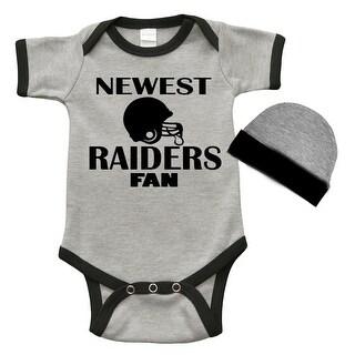 Infant Bodysuit and Cap Set -est Raiders Fan