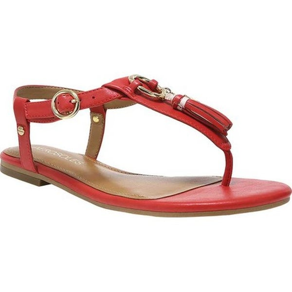 e3b40a1fa719 Shop Aerosoles Women s Short Circuit Flat Sandal Red Faux Leather ...