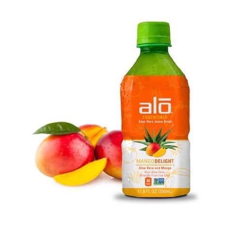 Alo Essentials Mango Delight Aloe Vera Juice Drink - Mango - Case of 12 - 11.8 fl oz.