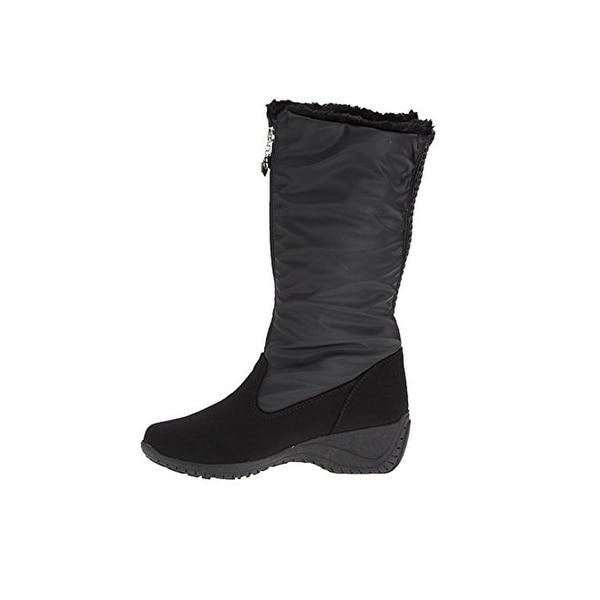 Khombu Womens Amber Winter Boots Faux Fur Lined Slip Resistant